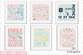 Template For Birth Announcement Baby Birth Announcement Template Bundle