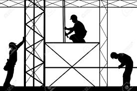 scaffold builder clipart silhouette clipartfest scaffolding worker