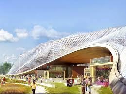 nestling like misshapen dewdrops a bike track alongside the new headquarters photograph google big heatherwick futuristic google hq