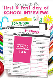 Last Interview Questions First Last Day Of School Interview For Kids Free Download