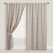 Geometric Patterned Curtains Gray Geo Laura Concealed Tab Top Curtains Set Of Geometric Designs