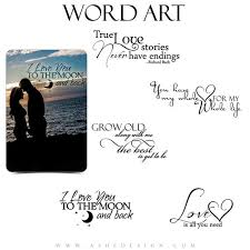 Love Word Art Quotes Photo Overlays For Scrapbooking LOVE Etsy Inspiration Quick I Love You Quotes