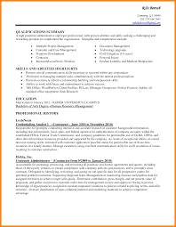 80 Resumes Examples Skills Abilities Amusing Profile Resume