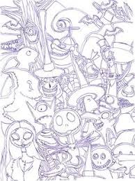 Awesome Nightmare Before Christmas Characters Coloring Pages
