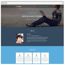 Lt Profile Free Responsive Cv Profile Wordpress Theme