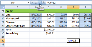 creating formulas in excel excel 2007 creating simple formulas full page