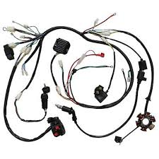 full electrics wiring harness cdi coil solenoid gy6 150cc atv quad complete electrics atv gy6 150cc cdi stator wiring harness ignition switch regul