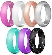 Thunderfit Silicone Rings 7 Rings 1 Ring Wedding Bands