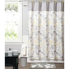 Yellow And Brown Shower Curtain Clover Medallion Fabric Shower