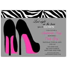 bachelorette party invite heels grey bachelorette party invitations paperstyle