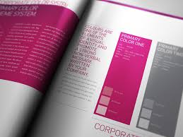 Manual Design Templates Enchanting Corporate Design Manual Guide 48 Pages On Behance