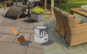 advice when painting your patio slabs