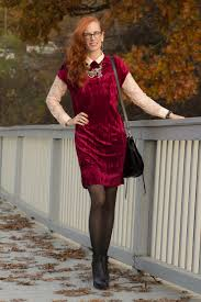 Holiday Outfit-Layering a Crushed Velvet Dress