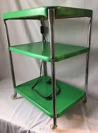 kitchen utility cart. Image Is Loading Vintage-3-Tier-Kitchen-Utility-Cart-Rolling-Green- Kitchen Utility Cart