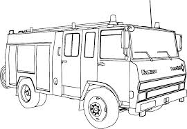 Fire Truck Coloring Book Pages Firetruck Coloring Page Firetruck