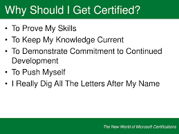 The New World Of Microsoft Certifications Ppt Download