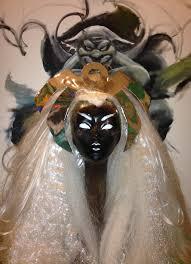 STORM Mistress of the Elements Wig Costume Tiara Design.