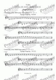 Violin Scales One Octave Finger Patterns For Solo Instrument Solo Violin By Tony Kitchen Sheet Music Pdf File To Download