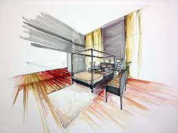 Interior Design Hand Drawings Architecture Design Interior Hand