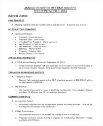 Corporate Meeting Minutes Form Business Meeting Minutes Template Free