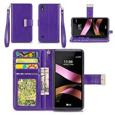lg flip phone purple. lg tribute hd / x style wallet phone case flip cover lg purple f