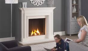 kensington aegean limestone mantel and tl73h gas fire
