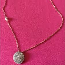michael kors rose gold disc pendant