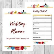 Printable Wedding Planner Details About Printable Wedding Planner Planning Kit And Checklists With Personalised Cover