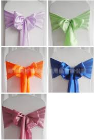 chair bows. satin chair sashes new wedding craft decoration banquet sash for christmas bows tie decor