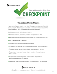 the job search contact routine at a glance® blog