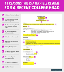 Recent College Graduate Resume Cool 28 Reasons This Is A Terrible Résumé For A Recent College Grad
