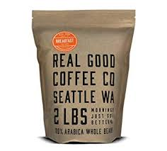 coffee beans bag. Brilliant Coffee Real Good Coffee Co 2LB Whole Bean Coffee Breakfast Blend Light Roast  Beans With Bag