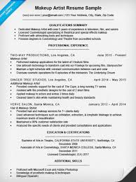 make up a resume makeup artist sle panion 16