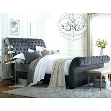 black upholstered sleigh bed. Modern Sleigh Bed King Grey Bedroom Set This Upholstered From The Collection Is . Black