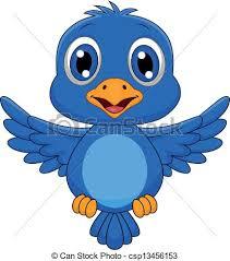 cute bird drawing flying. Exellent Cute Cute Blue Bird Cartoon Flying  Csp13456153 With Bird Drawing Flying G