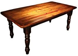 Farmhouse And Country Furniture Styles, Reclaimed Barn Wood American Turned  Leg Table