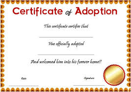 14+ Blank Adoption Certificate Templates For You To Download And Use ...
