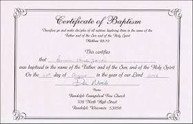 Baptism Certificate Templates For Word Aspects Of Beauty