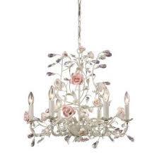 heritage 6 light cream ceiling mount chandelier