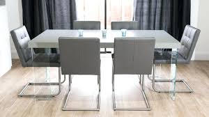 glass dining table with oak legs real leather swing dining chairs and floating dining table modern