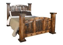 Old West Rustic Mansion Bed Frame