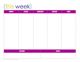 week schedule print out one week printable calendar printable calendar templates 2018