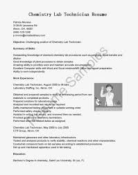 Resume Objective Examples Lab Technician Augustais