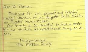 Thank You Letter To Doctor Enchanting Sarasota Children's Clinic Testimonials Sarasota Children's Clinic