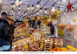 Milan Italy December 8 2018 Stall Stock Photo (Edit Now) 1287971389