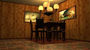 classic dining room layout with virtual 3d picture using free