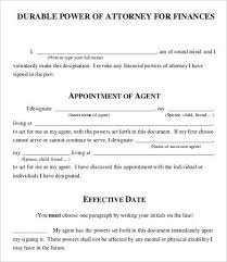 blank power of attorney power of attorney form free printable 9 free word pdf documents