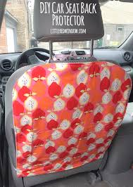 sew your own diy car seat protector and keep your seat backs clean and footprint free