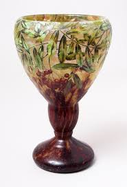 daum nancy red berry vase