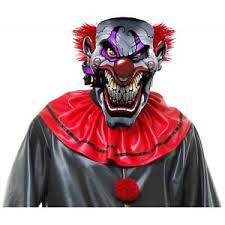 Details About Smokin Joe Evil Clown Mask Costume Accessory Adult Mens Halloween